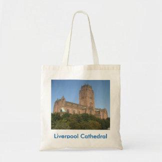 Bolsa Tote Sacola com imagem da catedral de Liverpool