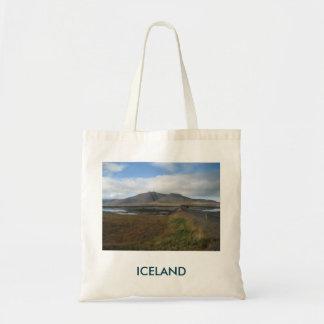 Bolsa Tote Sacola com imagem das colinas (em Islândia)