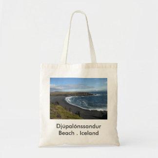 Bolsa Tote Sacola com imagem islandêsa da praia