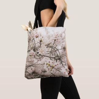 Bolsa Tote Sacola com impressão da flor de cerejeira