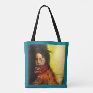"""Bolsa Tote Sacola com menino da pintura o """"com scarf"""