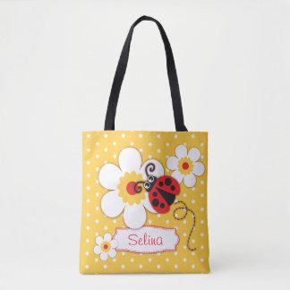 Bolsa Tote Sacola conhecida gráfica das meninas de flores do