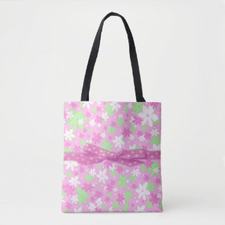 Bolsa Tote Sacola cor-de-rosa da chita