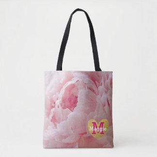 Bolsa Tote Sacola cor-de-rosa da festa de casamento do