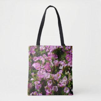 Bolsa Tote Sacola cor-de-rosa da flor do petúnia