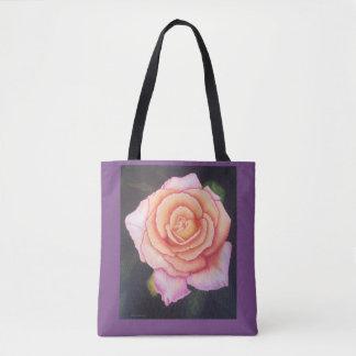 Bolsa Tote Sacola cor-de-rosa da paz