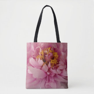 Bolsa Tote Sacola cor-de-rosa da peônia