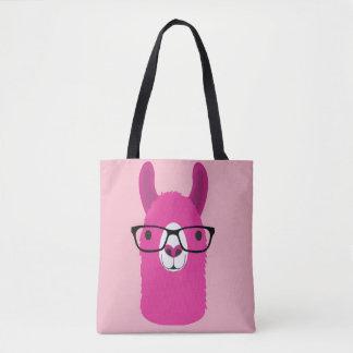 Bolsa Tote Sacola cor-de-rosa das canvas do lama