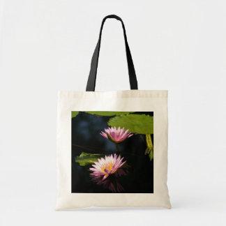 Bolsa Tote Sacola cor-de-rosa de Lotus Waterlily