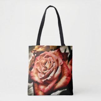 Bolsa Tote Sacola cor-de-rosa do outono