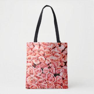 Bolsa Tote Sacola cor-de-rosa dos rosas