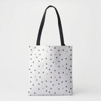Bolsa Tote Sacola cor-de-rosa e preta dos triângulos