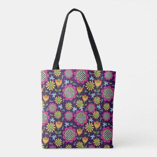 Bolsa Tote Sacola corajosa das flores