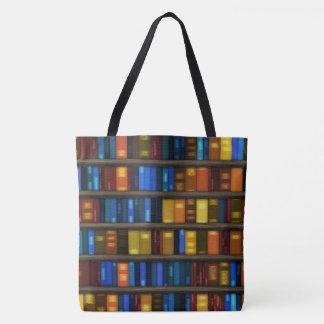 Bolsa Tote Sacola criativa do design dos livros da biblioteca
