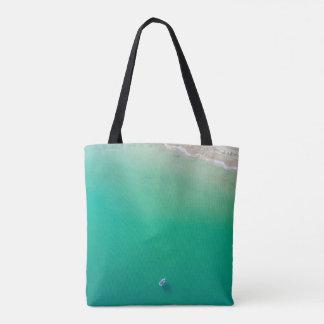 Bolsa Tote Sacola da água de turquesa da praia
