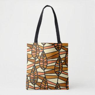 Bolsa Tote Sacola da arte abstracta das folhas de outono