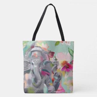 Bolsa Tote Sacola da arte de Buddha Ganesha