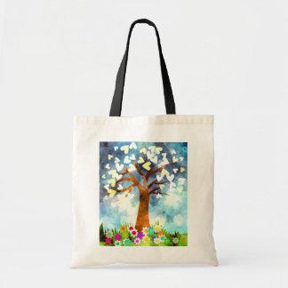 Bolsa Tote Sacola da árvore do coração
