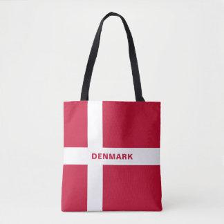 Bolsa Tote Sacola da bandeira de Dinamarca