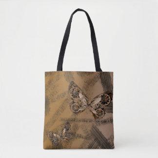 Bolsa Tote Sacola da borboleta de SteamPunk