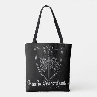 Bolsa Tote Sacola da brasão de Amelia DragonHunter