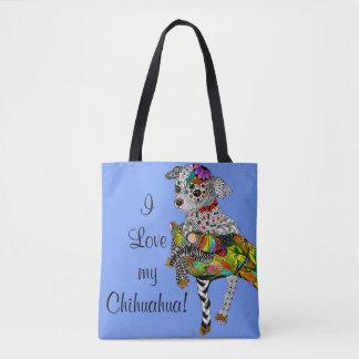 Bolsa Tote Sacola da chihuahua (você pode personalizar)