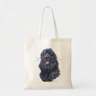 Bolsa Tote Sacola da compra do cão de Terra Nova, design do