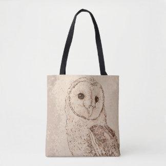 Bolsa Tote Sacola da coruja de celeiro