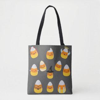 Bolsa Tote Sacola da doçura ou travessura de Emoji do milho
