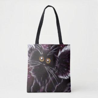 Bolsa Tote Sacola da fada do gato preto