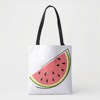 Bolsa Tote Sacola da fatia da melancia verificada para trás