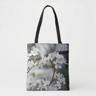 Bolsa Tote Sacola da flor do primavera do Dogwood
