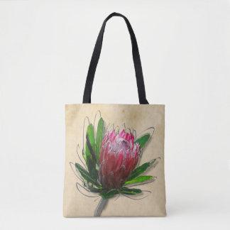 Bolsa Tote Sacola da flor do Protea