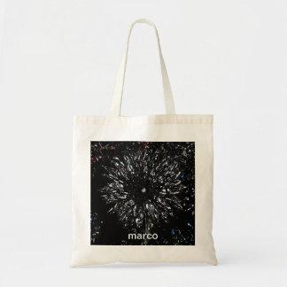Bolsa Tote sacola da flor do tiro do starburst