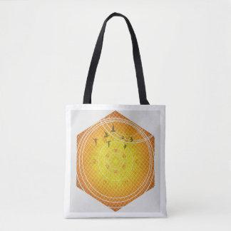 Bolsa Tote Sacola da geometria do favo de mel