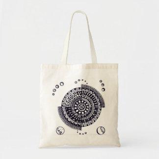 Bolsa Tote Sacola da mandala, design Handmade