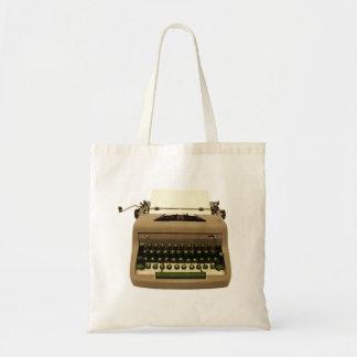 Bolsa Tote Sacola da máquina de escrever do vintage