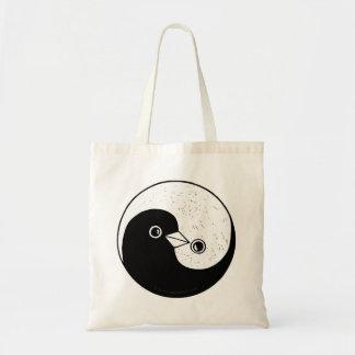 Bolsa Tote Sacola da paz das pombas de Yin Yang