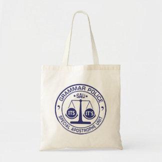 Bolsa Tote sacola da polícia da gramática