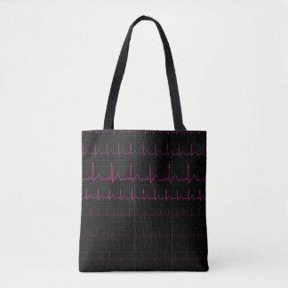 Bolsa Tote Sacola da pulsação do coração de EKG