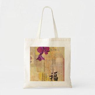 Bolsa Tote Sacola da sabedoria da orquídea