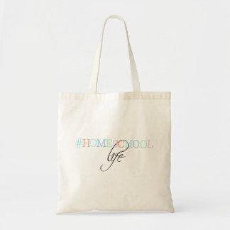 Bolsa Tote Sacola da vida de Hashtag Homeschool