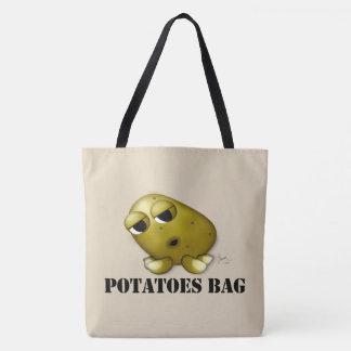 Bolsa Tote Sacola das batatas do divertimento