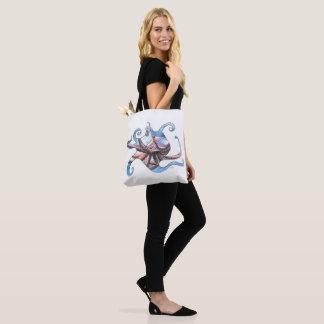 Bolsa Tote Sacola das canvas com ilustração do polvo