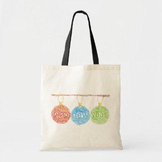 Bolsa Tote Sacola das decorações do feliz ano novo