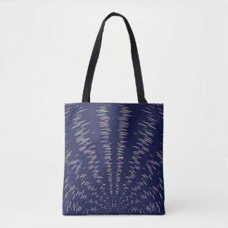 Bolsa Tote Sacola das listras de azuis marinhos