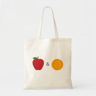 Bolsa Tote Sacola das maçãs & das laranjas