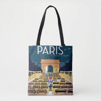 Bolsa Tote Sacola das viagens vintage de Paris France