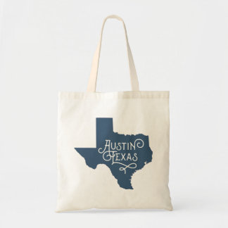 Bolsa Tote Sacola de Austin Texas do estilo do art deco -