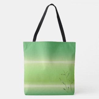 Bolsa Tote sacola de bambu do verde do primavera dos asanas